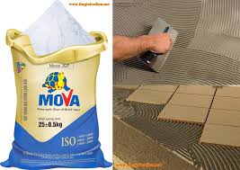 Keo dán gạch Mova với độ bám dính, chống thấm cao