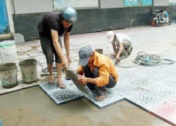 Ốp lát bằng hồ vữa tốn nhiều nhân công