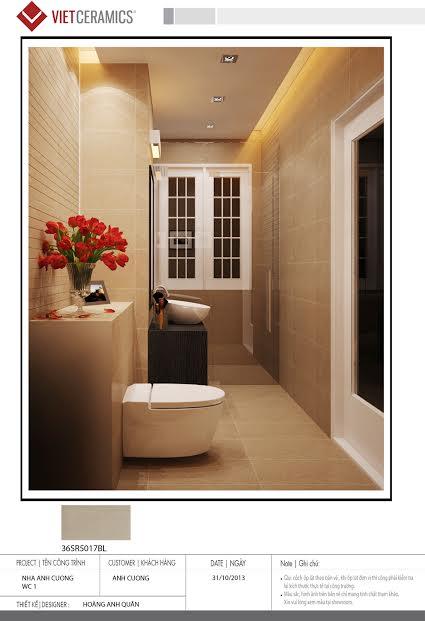 Gạch ốp Bạch Mã cho phòng tắm thêm sang trọng