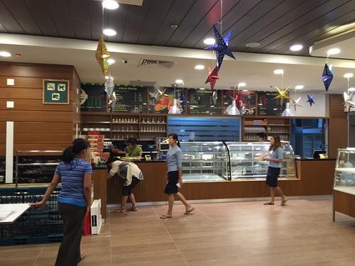 Nền trung tâm thương mại với mật độ đi lại lớn