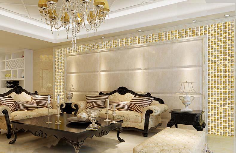 Gạch Mosaic thủy tinh cho phòng khách thêm sang trọng
