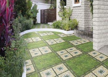Sân vườn đẹp hoàn hảo khi sử dụng keo dán gạch ngoài trời