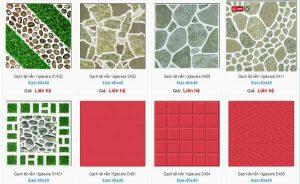 Gạch lát sân vườn Viglacera đa dạng mẫu mã