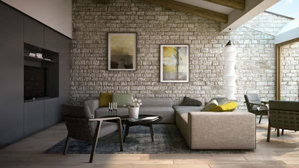gạch ốp lát nào được sử dụng nhiều cho phòng khách