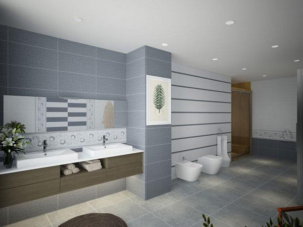 TOP mẫu gạch ốp tường sọc ngang phòng tắm hot nhất 2021 3