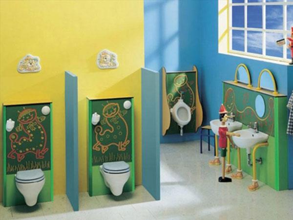 Những quy tắc cần tuân thủ khi trang trí nhà vệ sinh mầm non 2
