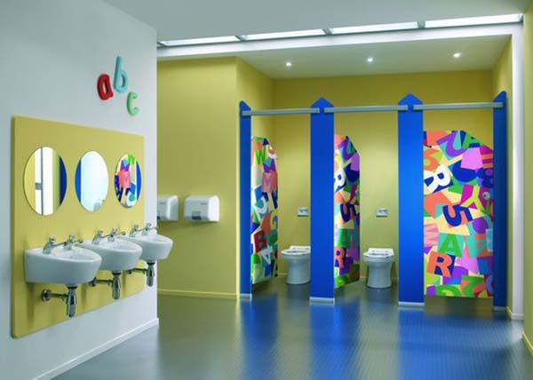 Những quy tắc cần tuân thủ khi trang trí nhà vệ sinh mầm non 3