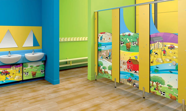 Những quy tắc cần tuân thủ khi trang trí nhà vệ sinh mầm non 5