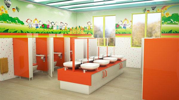 Những quy tắc cần tuân thủ khi trang trí nhà vệ sinh mầm non 6