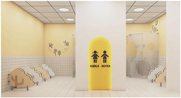Những quy tắc cần tuân thủ khi trang trí nhà vệ sinh mầm non 9