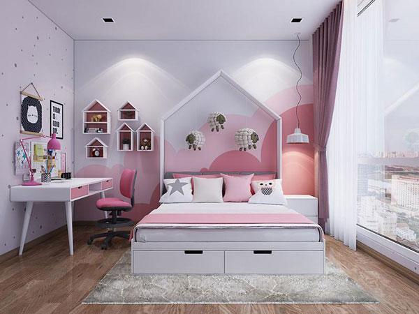 Tiêu chí cần biết khi thiết kế mẫu phòng ngủ cho bé gái 2